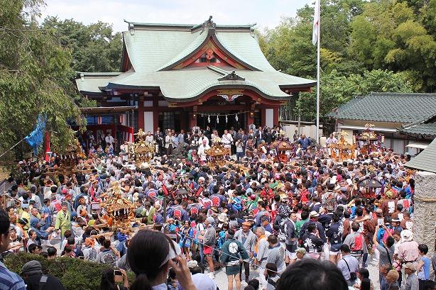 綱島諏訪神社例大祭宮入