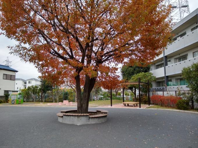 綱島ヒコーキ公園ベンチ