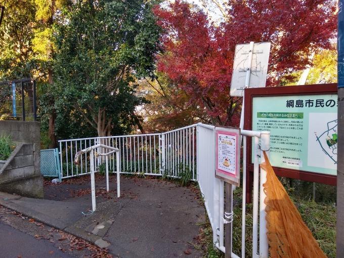 綱島台公園へのルート