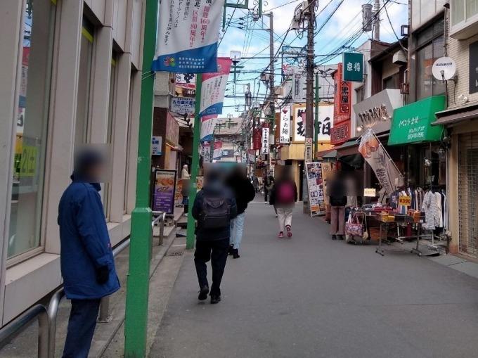 綱島駅前の通り