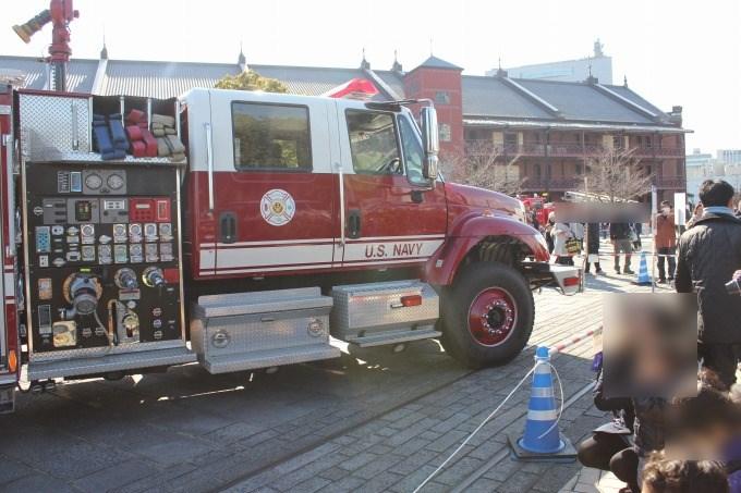 横浜出初式アメリカの消防車