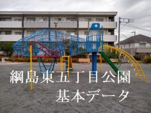 綱島東五丁目公園(ヒコーキ公園)の遊具など基本情報