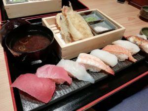 杉玉綱島店のランチメニューでちょい飲み。寿司と天ぷらで一杯飲んできた♪