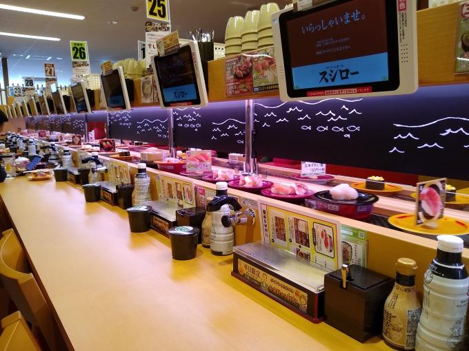 スシロー綱島店カウンター