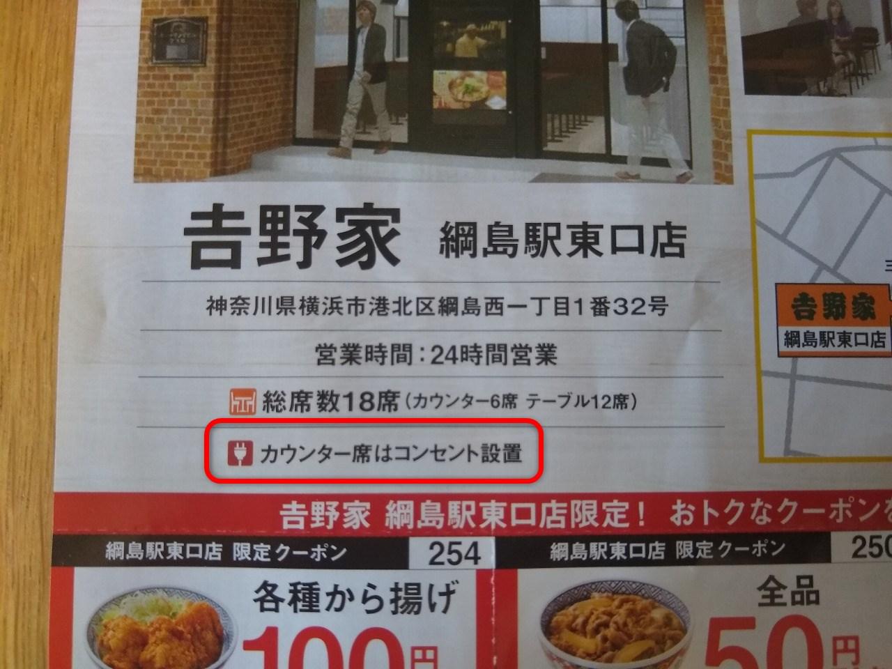 野家綱島駅東口店オープン