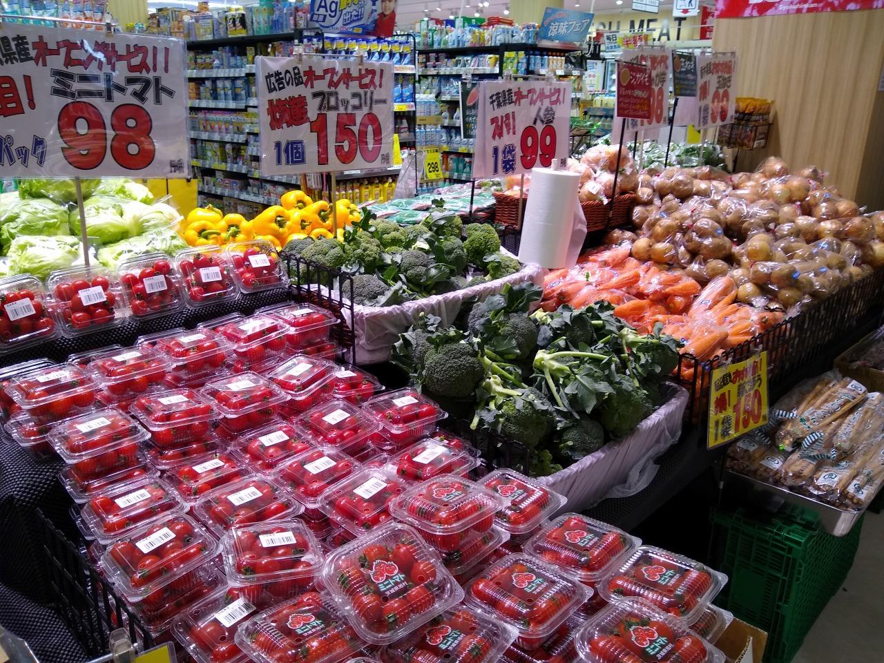 綱島街道クリエイトの生鮮食品