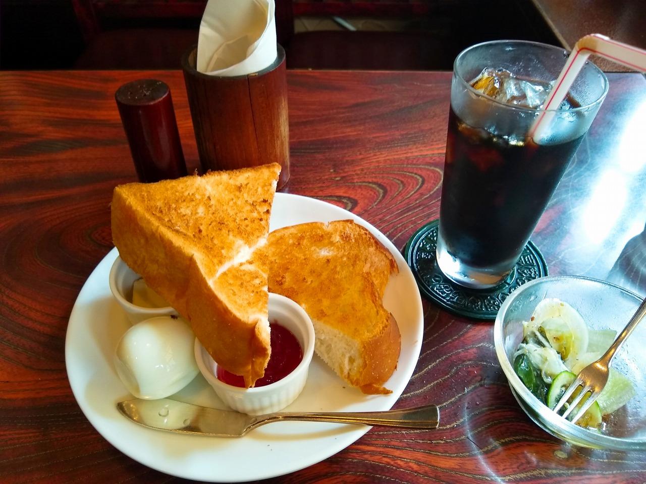 綱島の喫茶店カルディのモーニング