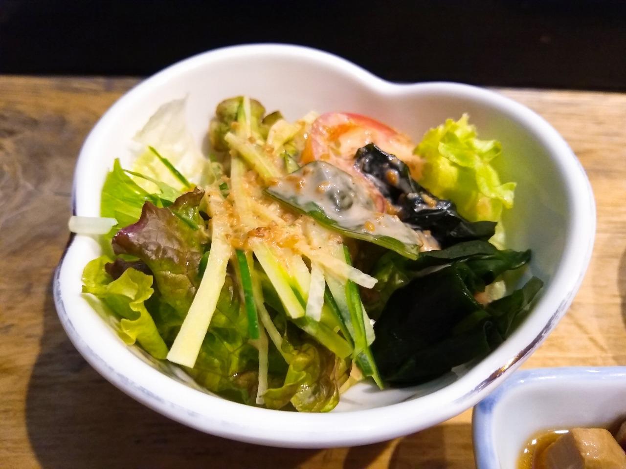 大黒鮨ランチセットサラダ