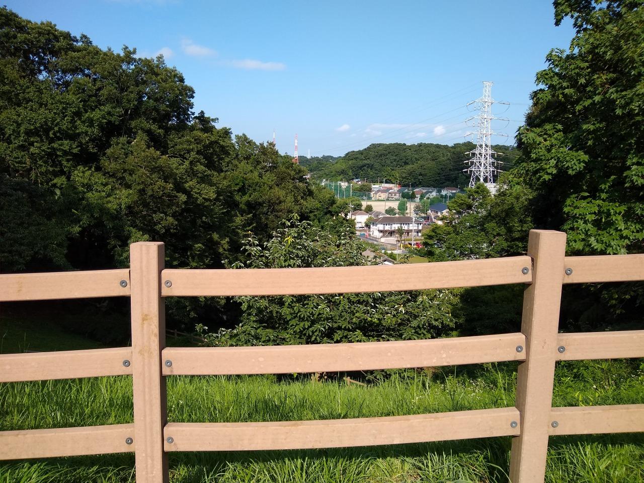 師岡町公園の見晴らし