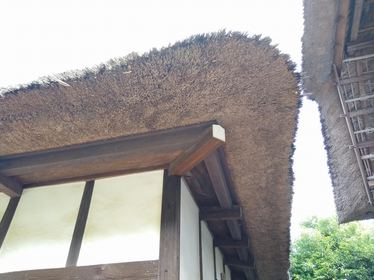 横溝屋敷の茅葺き屋根