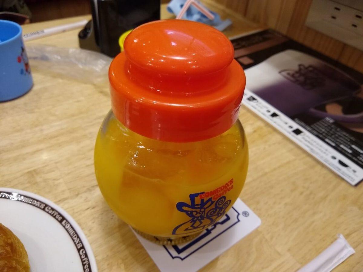 コメダ珈琲オレンジジュース