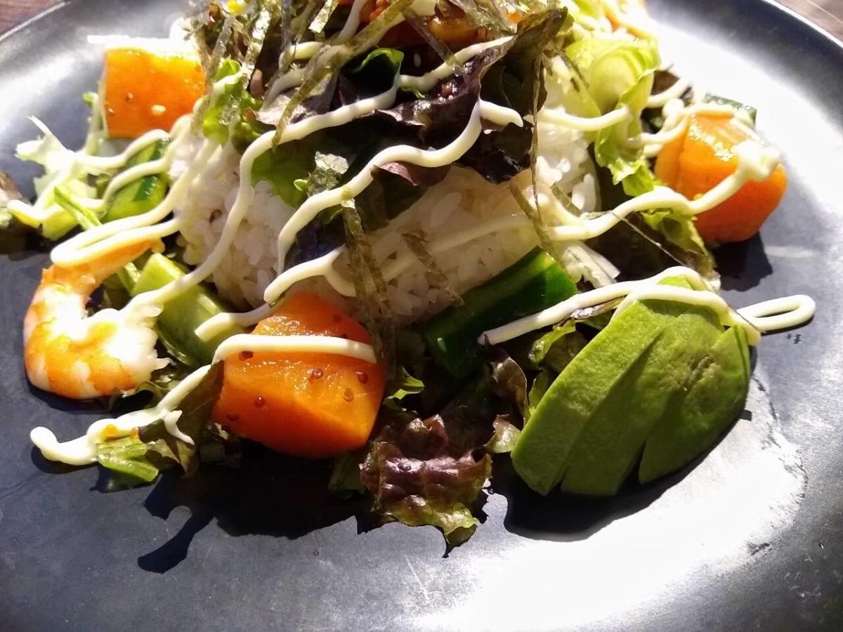 ブルスタのサラダご飯