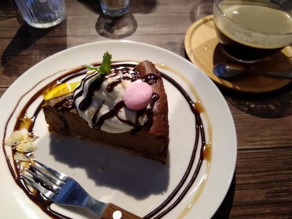 ブルスタのチョコレートチーズケーキ