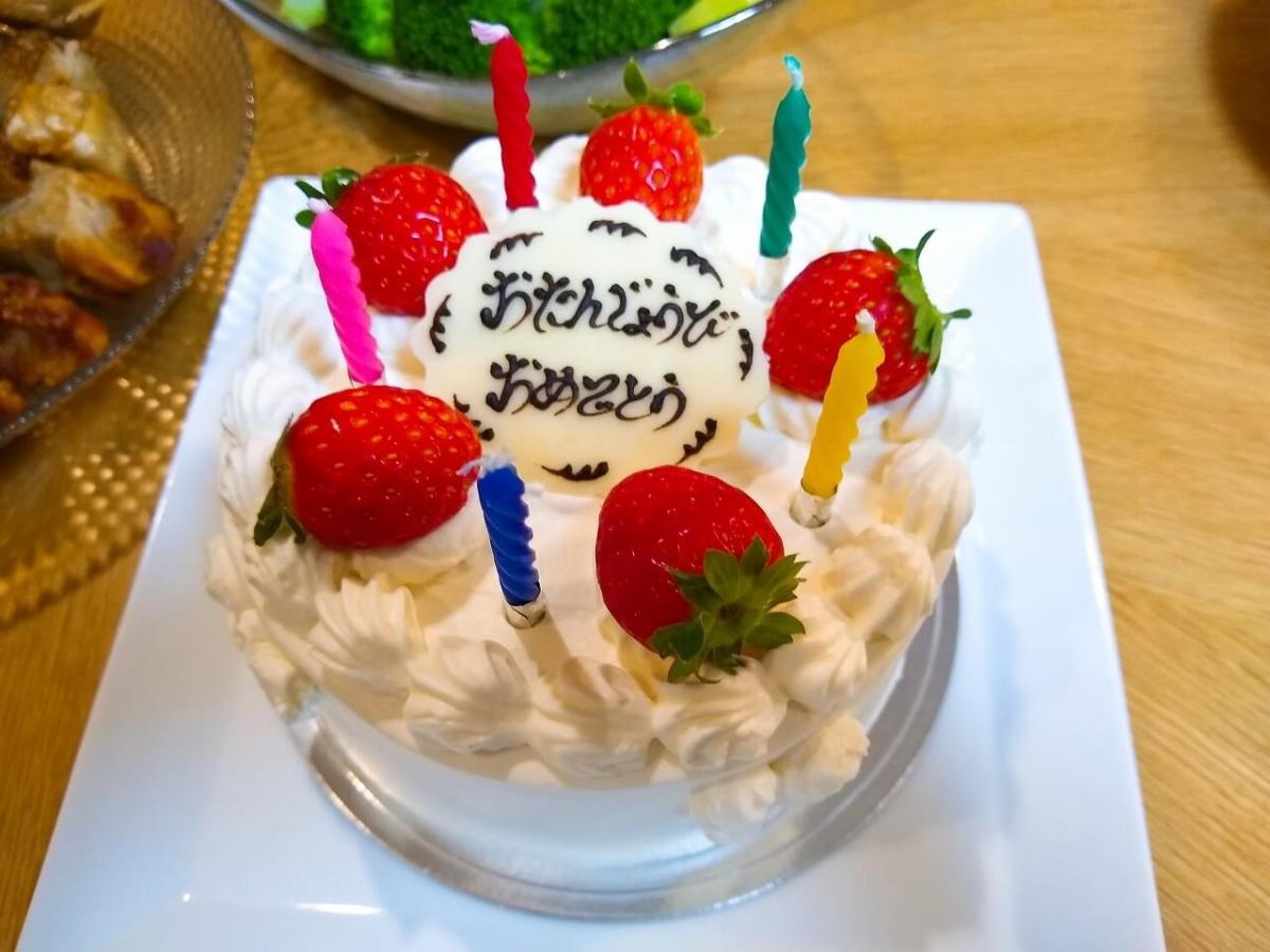 プチポワのデコレーションケーキ