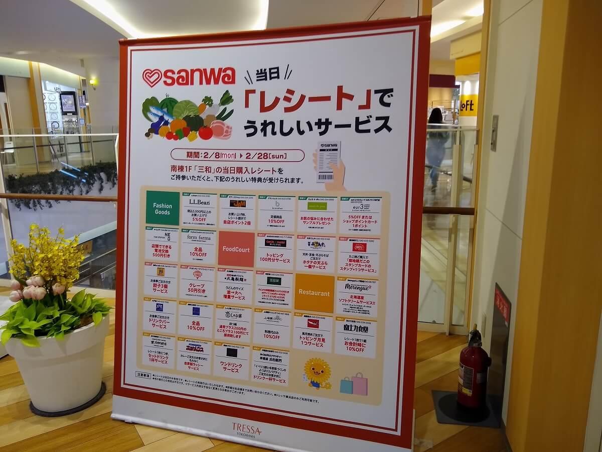 トレッサ横浜三和レシートキャンペーン