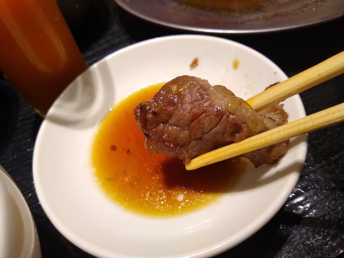 焼肉トラジトレッサ横浜店ランチ一人焼肉