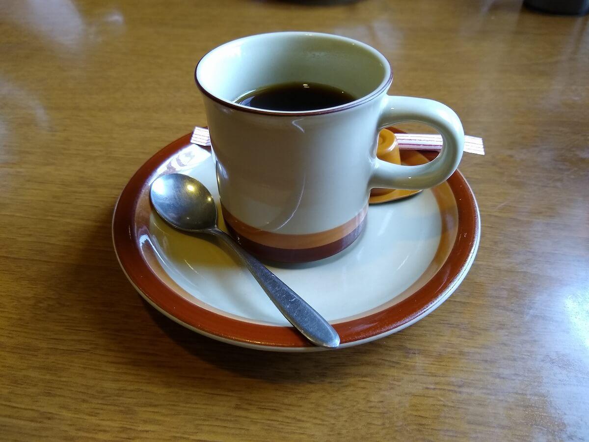 留香閣ランチサービスコーヒー
