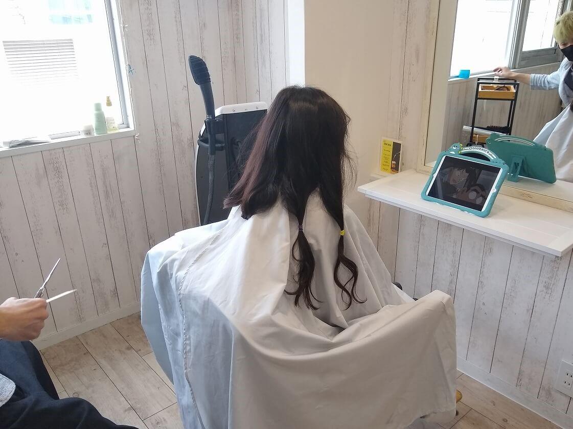 綱島美容院ラウマヒナでヘアドネーション