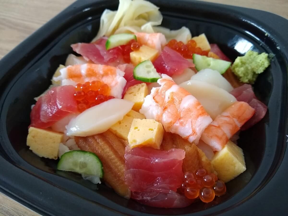 かごの屋海鮮ちらし寿司テイクアウト