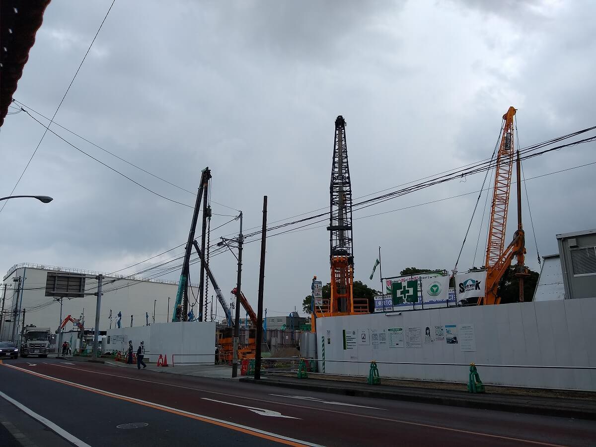 新綱島駅前再開発2021年7月