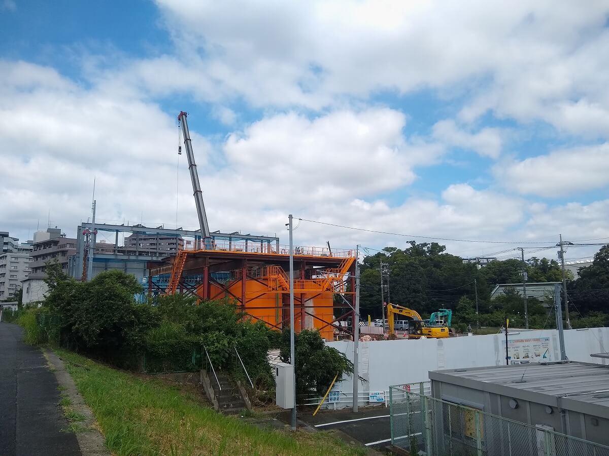 新綱島駅前再開発2021年8月初