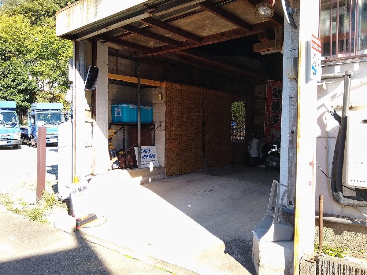 らいおん商店の駐輪場